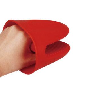 Medium silicone oven mitt | Red