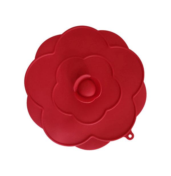 Moyen Couvercle en silicone Ø 25cm | Rouge