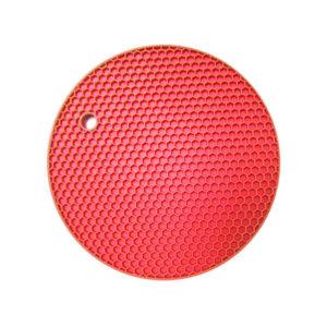 Dessous de plat multifonction en silicone | Rouge