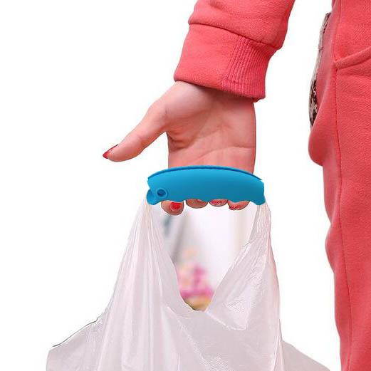 Poignée de sac en silicone | Bleu