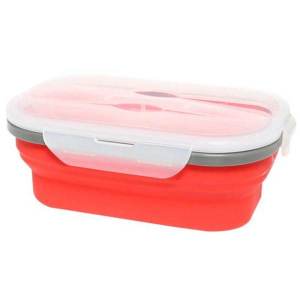 Boîte à repas pliable avec 1 compartiment Rouge 00