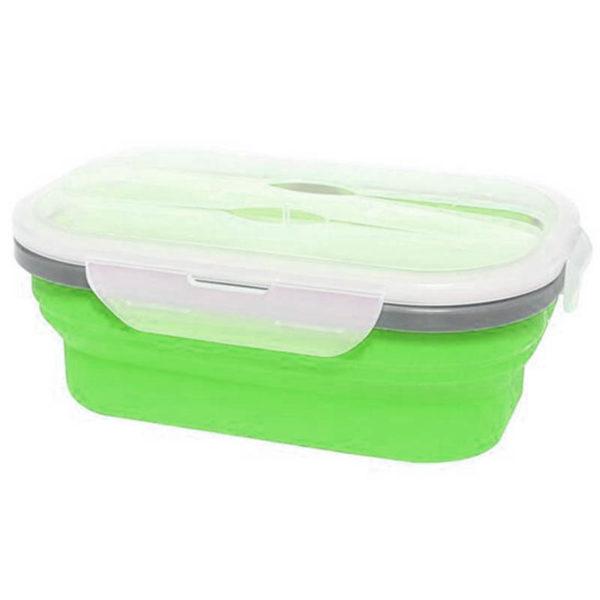 Boîte à repas pliable avec 1 compartiment Vert 00