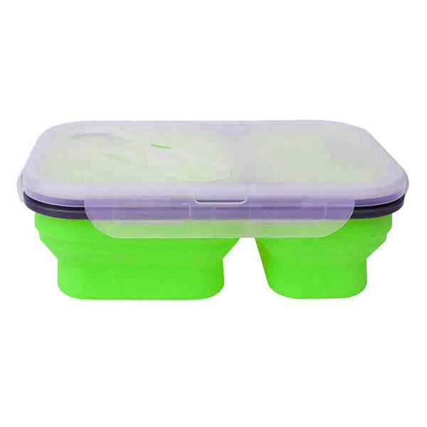 Boîte à repas pliable avec 2 compartiments Vert 00