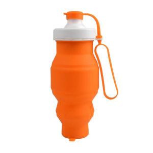 Bouteille compactable futée en silicone Orange 01