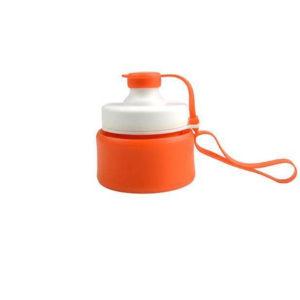 Bouteille compactable futée en silicone Orange 02