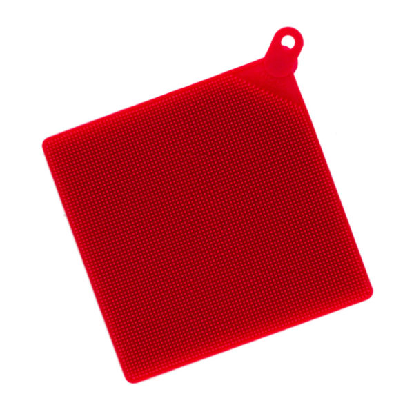 Brosse multifonction en silicone Rouge