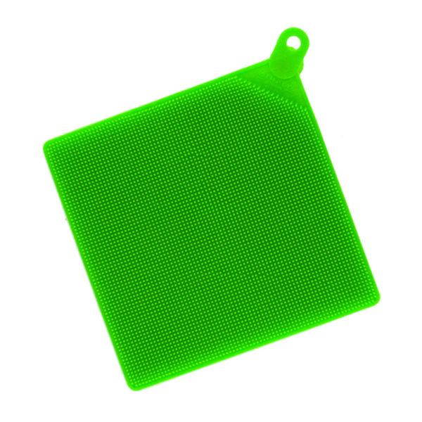 Brosse multifonction en silicone Vert