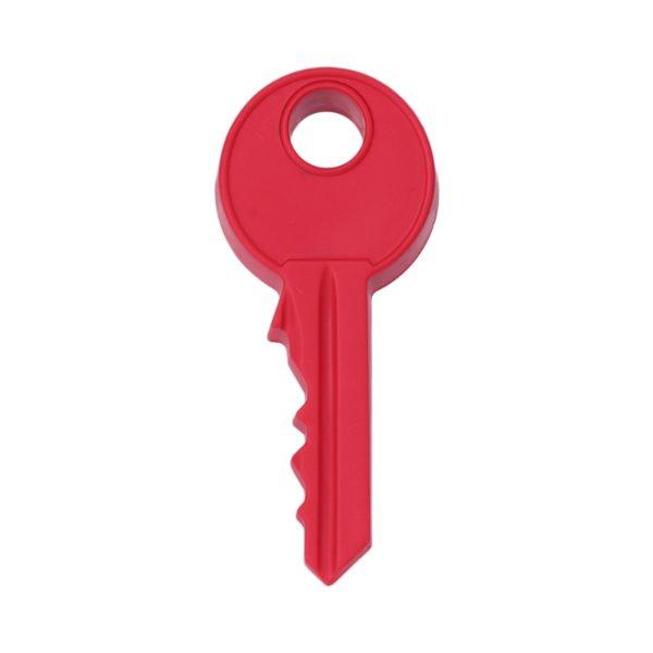 Butée de porte en forme de clé Rouge 01