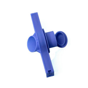Bag closure clip with spout | Blue