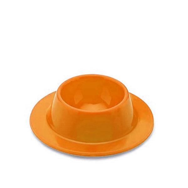 Coquetier ventouse en silicone_Orange 01