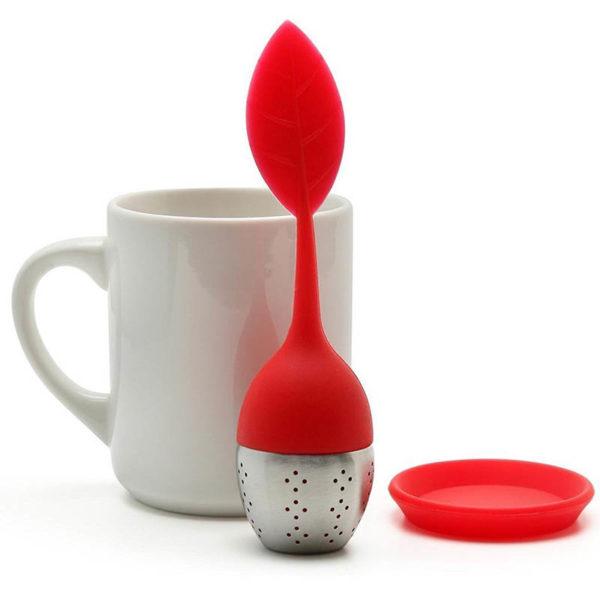 Infuseur à thé en forme de feuille | Orange