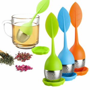 Leaf shaped tea infuser | Orange