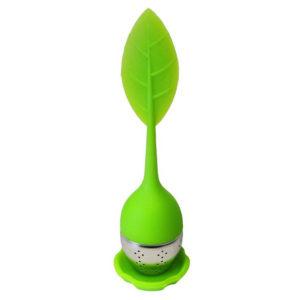 Infuseur à thé en forme de feuille Vert 02