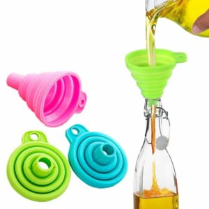 Mini foldable silicone funnel | Green