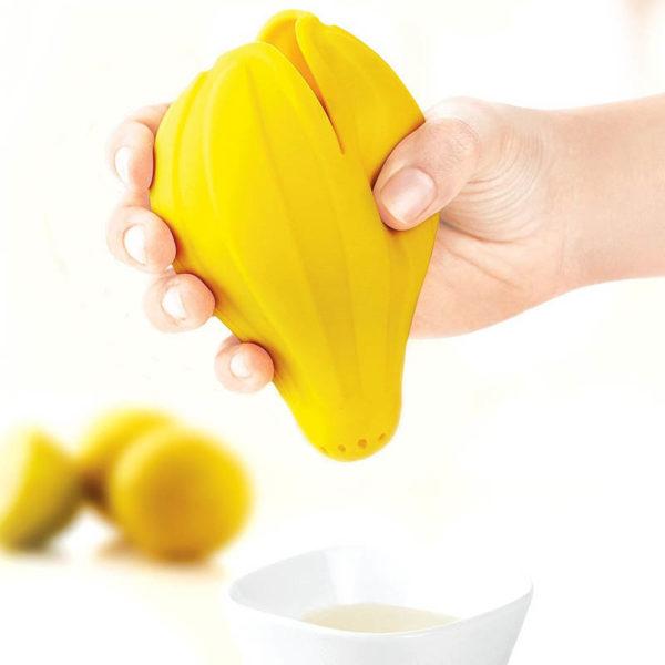 Presse-citron en silicone | Jaune