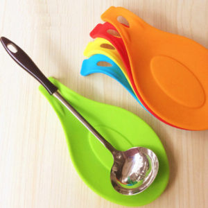 Silicone spoon holder | Green