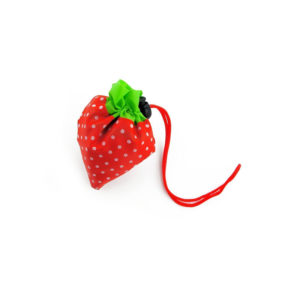 Reusable foldable shopping bag Strawberry | Yellow