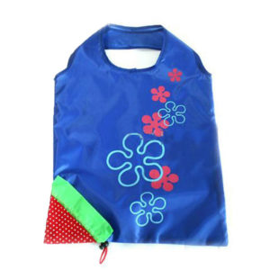 Reusable foldable shopping bag Strawberry | Blue