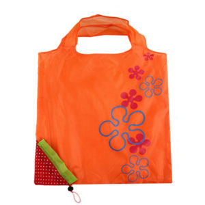 Reusable foldable shopping bag Strawberry | Orange