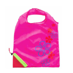 Reusable foldable shopping bag Strawberry | Pink