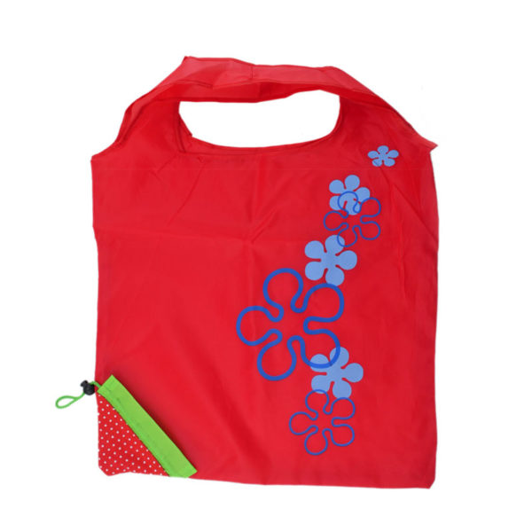 Reusable foldable shopping bag Strawberry | Red