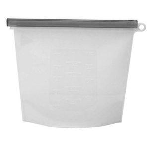 Sac en silicone réutilisable Blanc 01