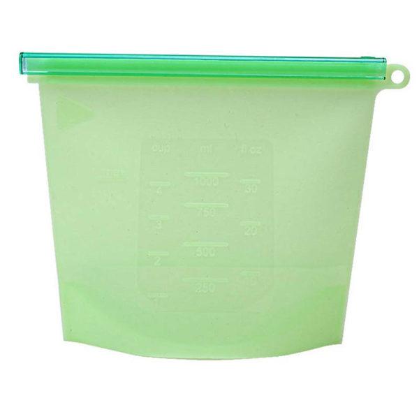 Sac en silicone réutilisable Vert 01