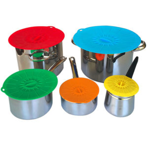Colorful Silicone lids set from Ø 10cm to Ø 30cm