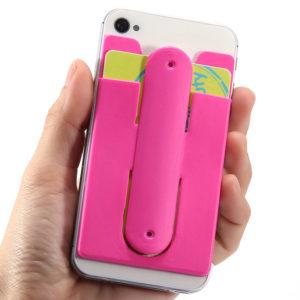 Support de téléphone et de cartes en silicone | Bleu