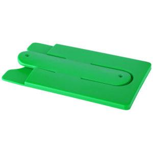 Support de téléphone et de cartes en silicone vert 01