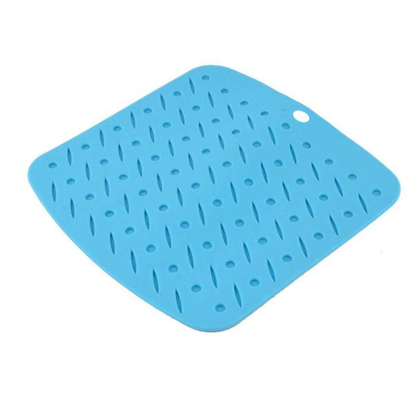 Tapis silicone multifonction Bleu -02
