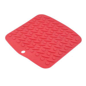 Tapis silicone multifonction Rouge-01