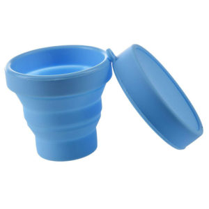 Collapsible silicone cup | Blue
