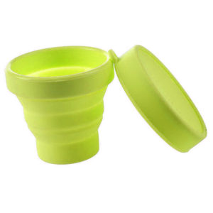 Collapsible silicone cup | Yellow