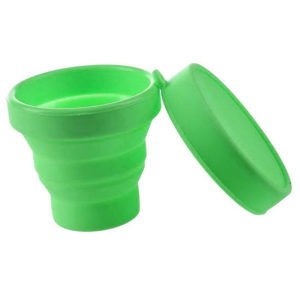 Collapsible silicone cup | Green
