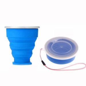 Verre compactable de poche Bleu 01