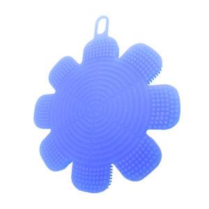 Magic silicone sponge Flower | Blue