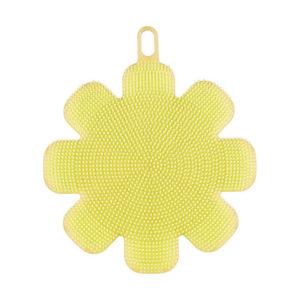 eponge-silicone-fleur-jaune 01