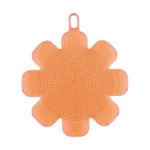 eponge-silicone-fleur-orange 01