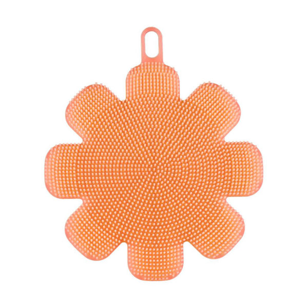 Magic silicone sponge Flower | Orange