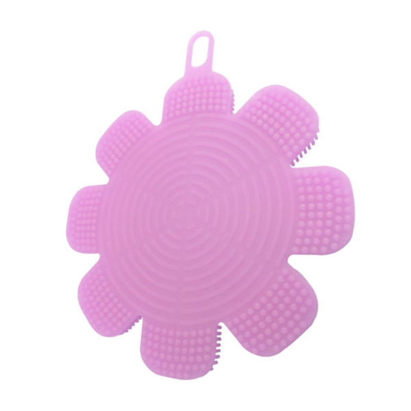 Magic silicone sponge Flower   Pink