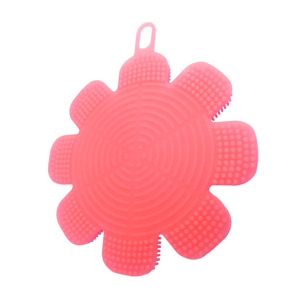Magic silicone sponge Flower | Red