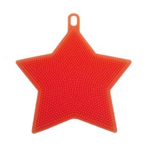 Éponge en silicone Étoile Rouge 01