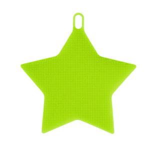 Éponge en silicone Étoile Vert 01