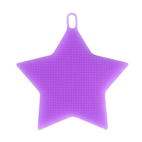 Éponge en silicone Étoile Violet 01