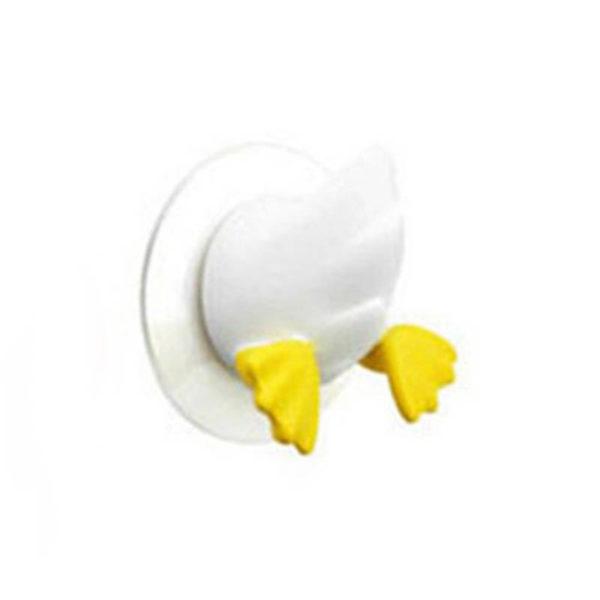 Adorable crochet à ventouse Blanc 01