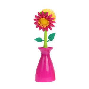 Brosse Fleur Rose 01