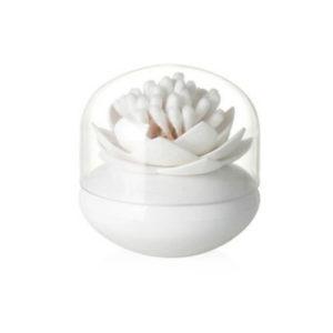 Porte-coton-tige Lotus Blanc 01