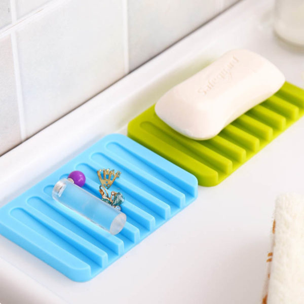Colorful silicone soap dish | White
