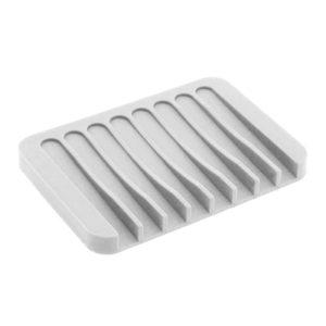 Colorful silicone soap dish | White